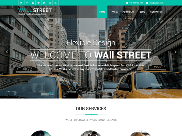 wallstreet light wordpress theme