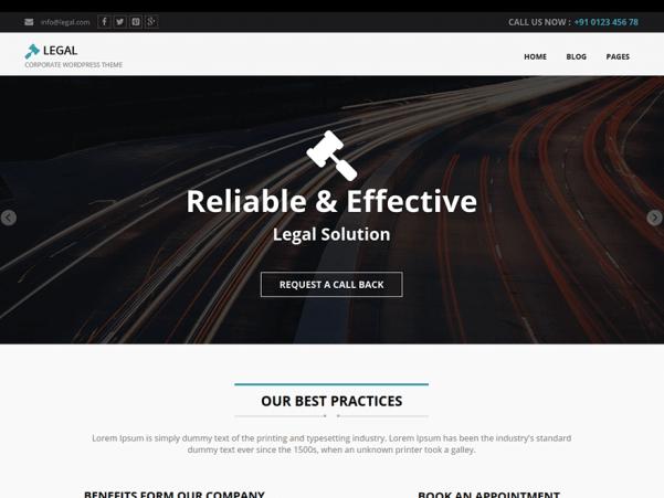 legal wordpress theme