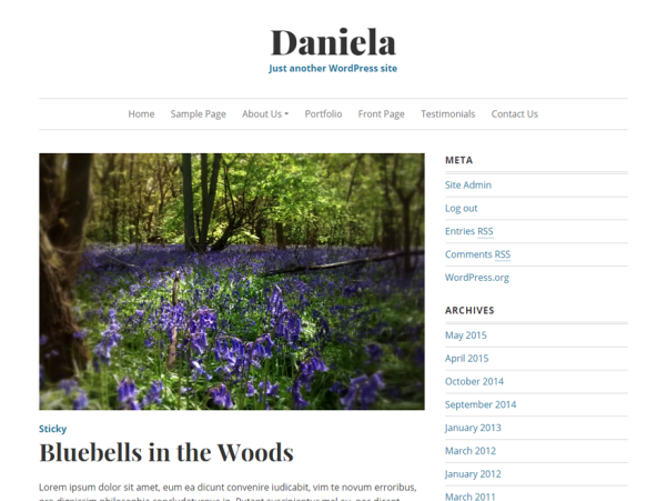 daniela wordpress theme