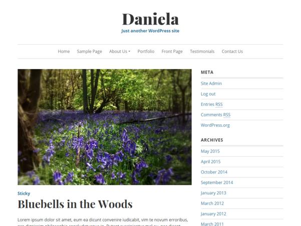 daniela wordpress theme