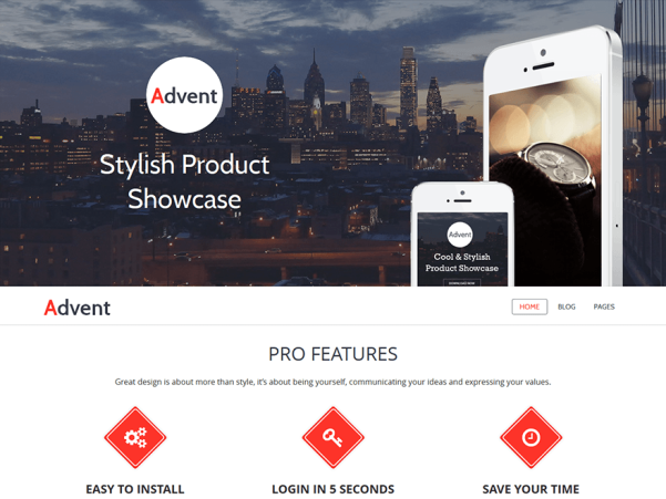 advent wordpress theme