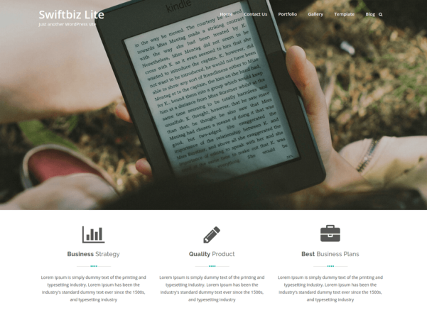swiftbiz lite wordpress theme