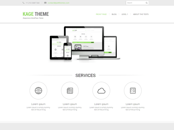 kage green wordpress theme