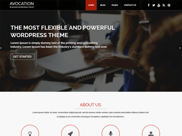 avocation wordpress theme