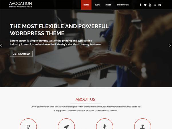 avocation wordpress theme