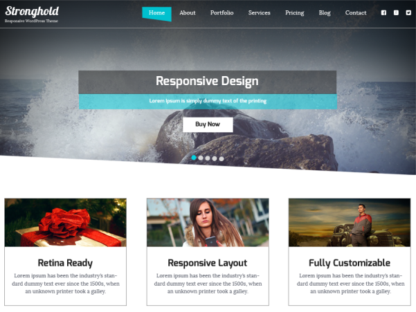 stronghold wordpress theme