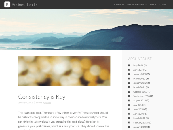 business leader wordpress theme