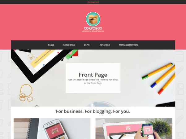corpobox lite wordpress theme