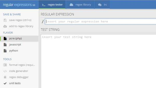 regular expression in javascript