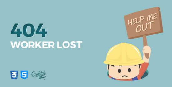 worker lost animated 404 mistake web page