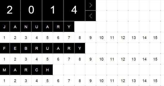 verbose calendar
