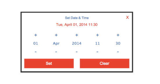 flat datetime picker