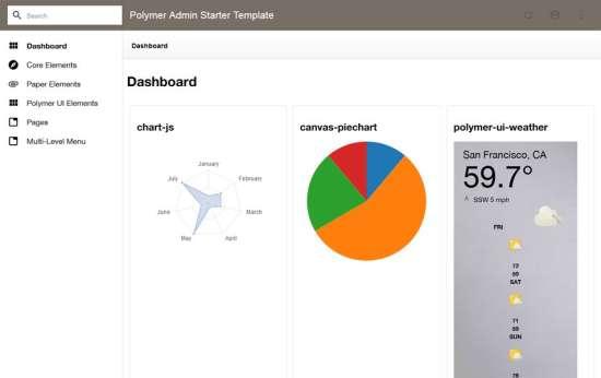 polymer admin starter template