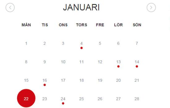 simple event calendar