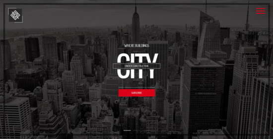 city responsive coming soon page