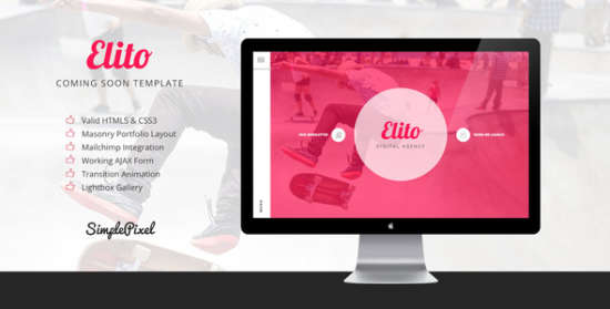 elito coming soon template