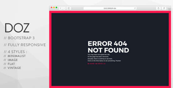 doz creative 404 pages