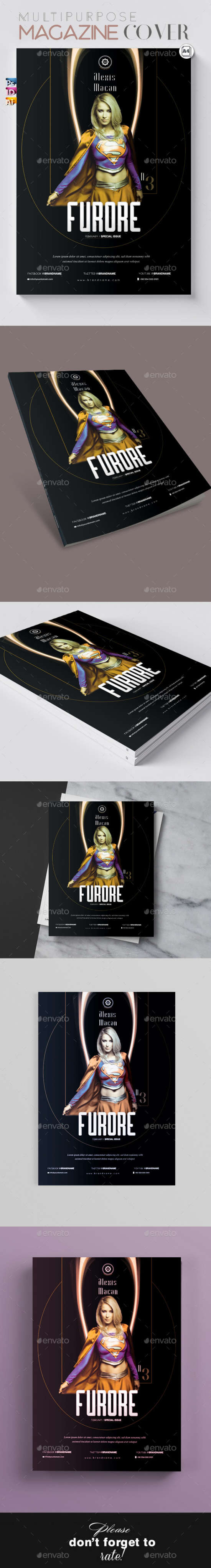 multipurpose magazine cover with all formats