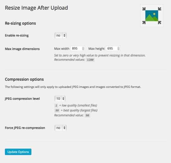 resize image after upload