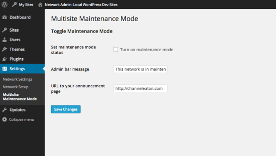 multisite maintenance mode