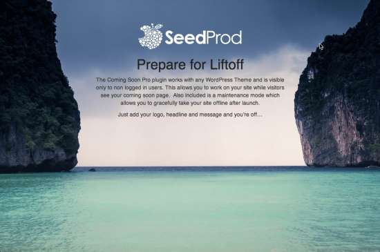 coming soon page & maintenance mode seedprod plugin