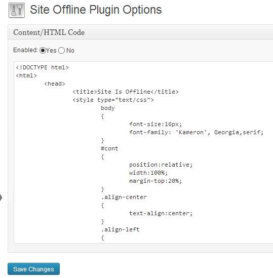 site offline or coming quickly plugin