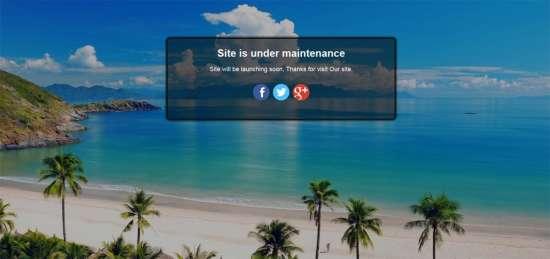 easy maintenance mode plugin