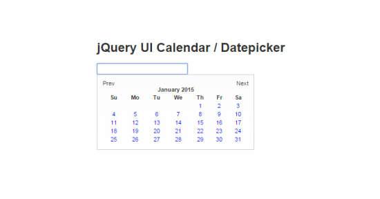 custom jquery ui calendar