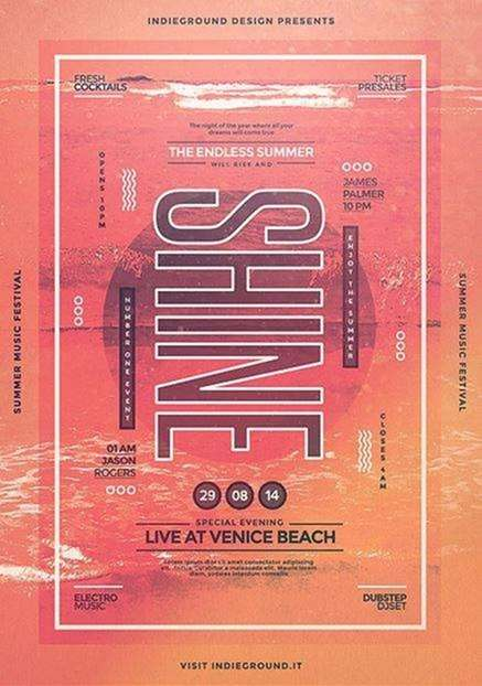 shine summer music festival on indieground