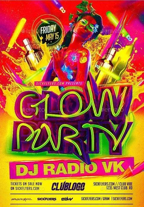 glow party on visual river
