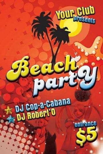 beach ongoing party on freepik