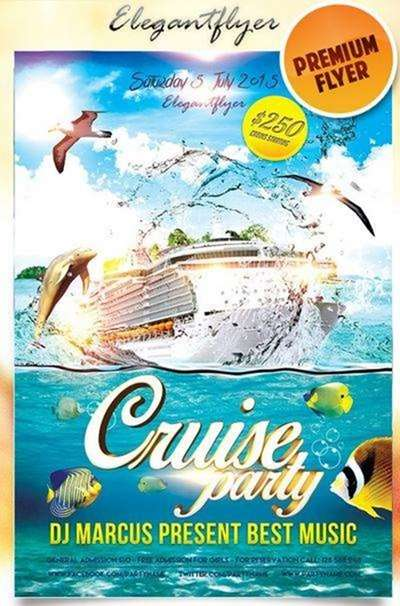 cruise party on elegant flyer