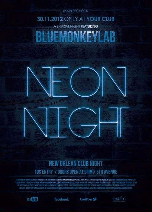 neon night club on blue monkey lab