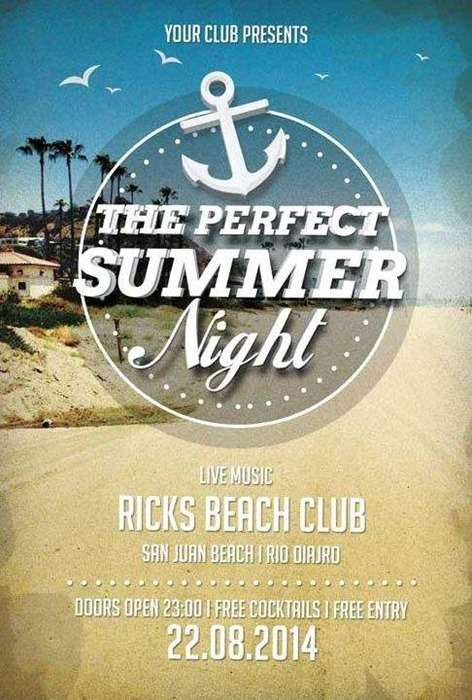 the summer that is perfect on awesome flyer