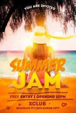 summer jam on awesome flyer