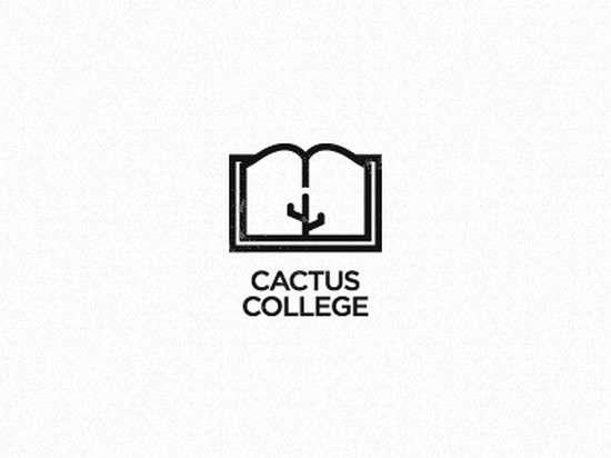 cactus college wip logo design