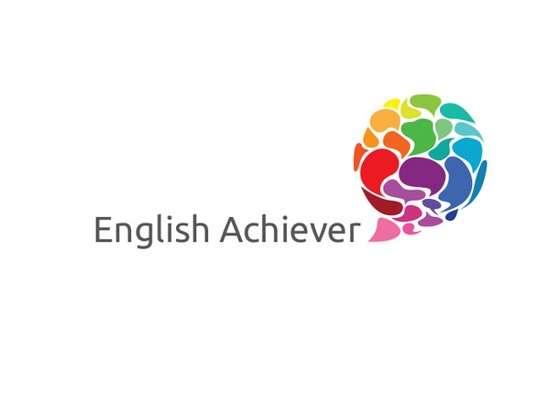 english achiever logo design