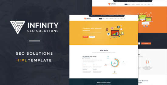 Infinity Sensitive Seo Company Html Template