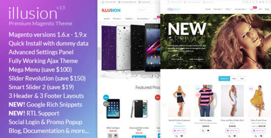 illusion multipurpose magento theme