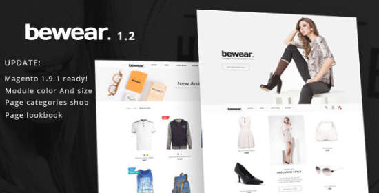 bewear lookbook style e commerce magento theme