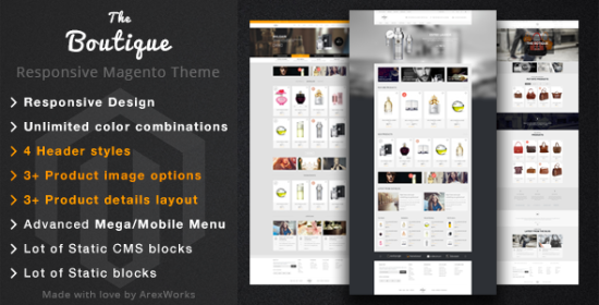 boutique fashion magento responsive theme