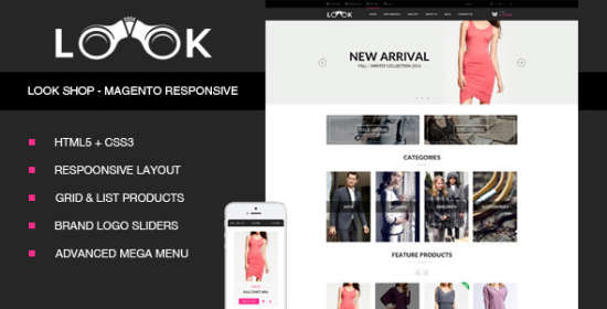 look fashion magento responsive theme