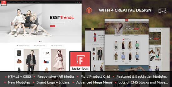 fashion feast magento responsive theme
