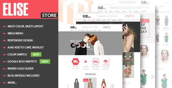 elise advanced fashion magento theme blog