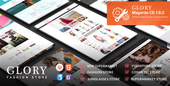 glory magento theme multistyles mobile friendly