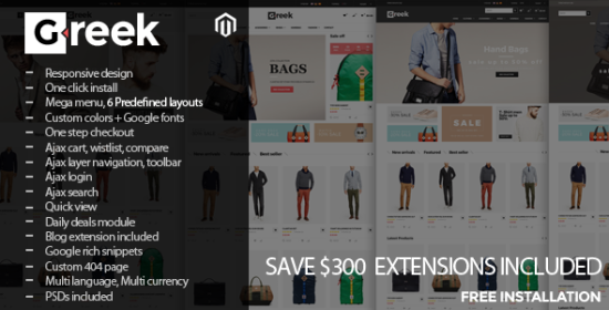 greek responsive magento theme