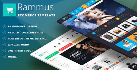 rammus responsive magento fashion theme