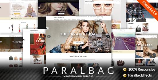responsive magento theme parallax