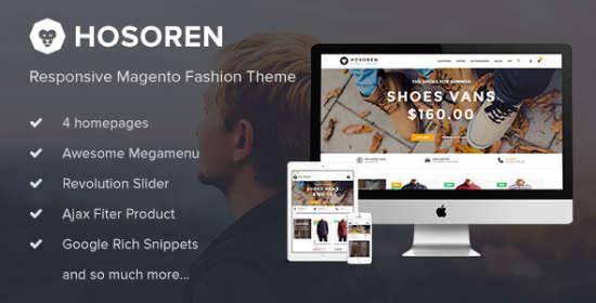 hosoren responsive magento fashion theme