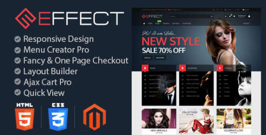effect fashion responsive magento themes